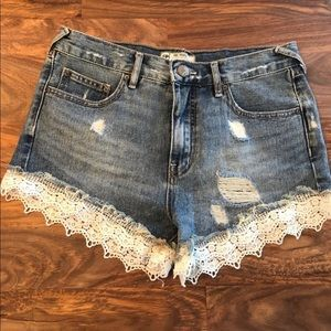 Free People Crochet Lace Shorts